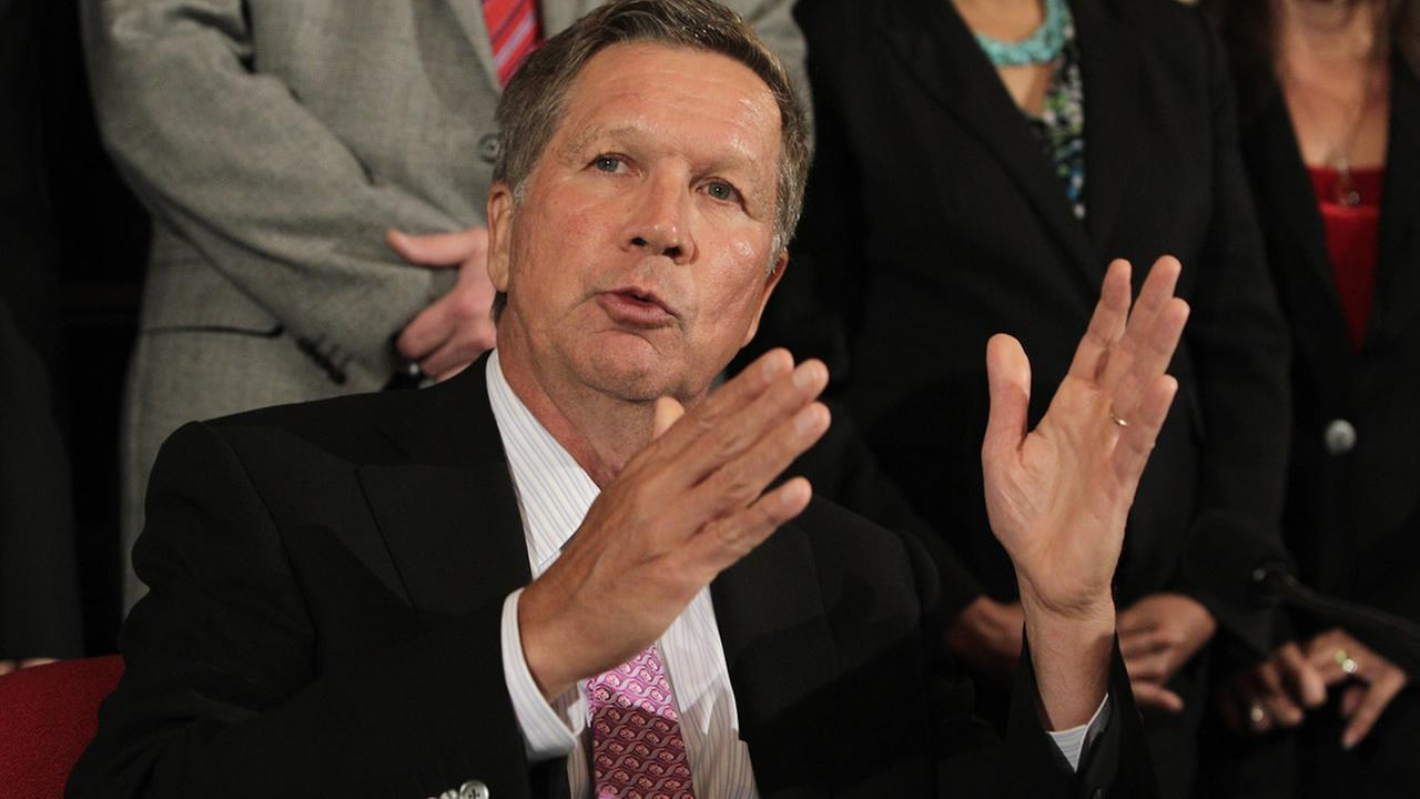 FILE: Ohio Governor John Kasich on Tuesday, June 30, 2015, in Columbus, Ohio.