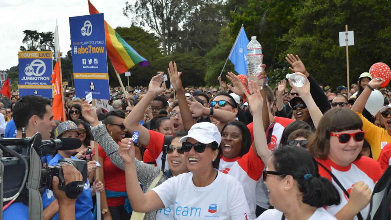 ABC7 is proud to support AIDS Walk San Francisco for the 28th year in a row. The event took place in Golden Gate Park on Sunday, July 19, 2015.KGO-TV