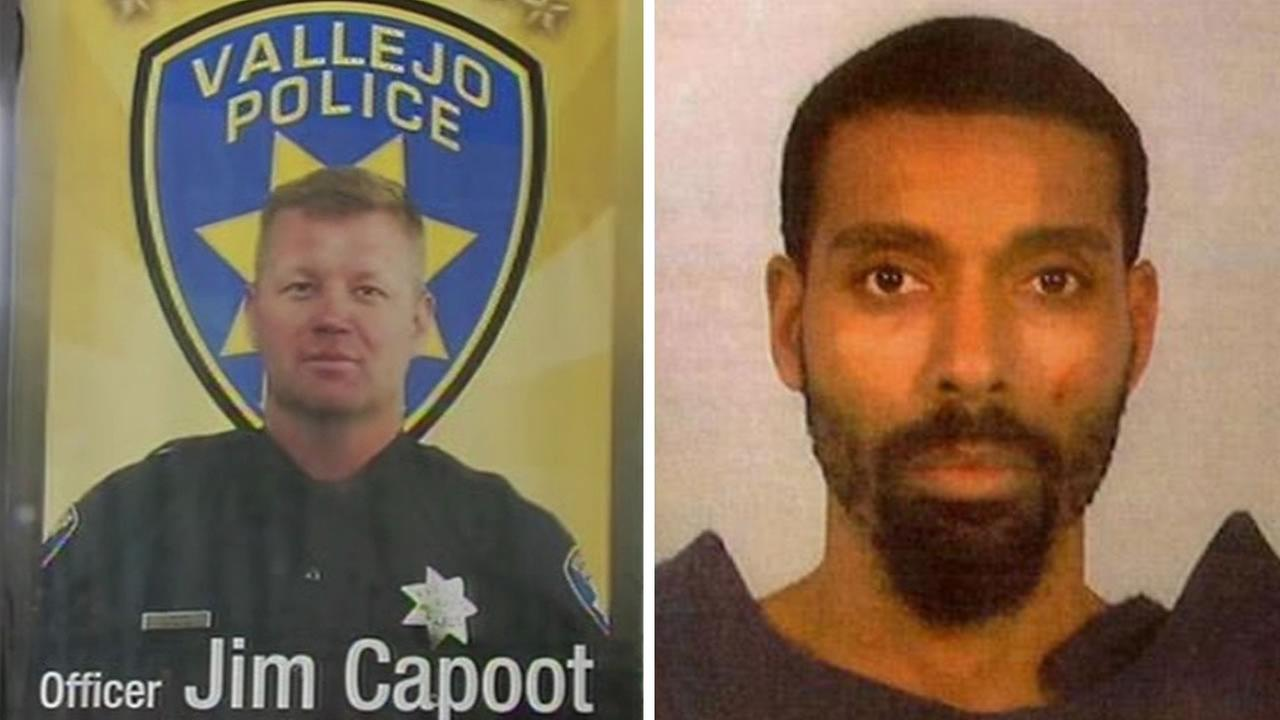 (FILE) Vallejo Police Officer James Capoot and Henry Albert Smith.