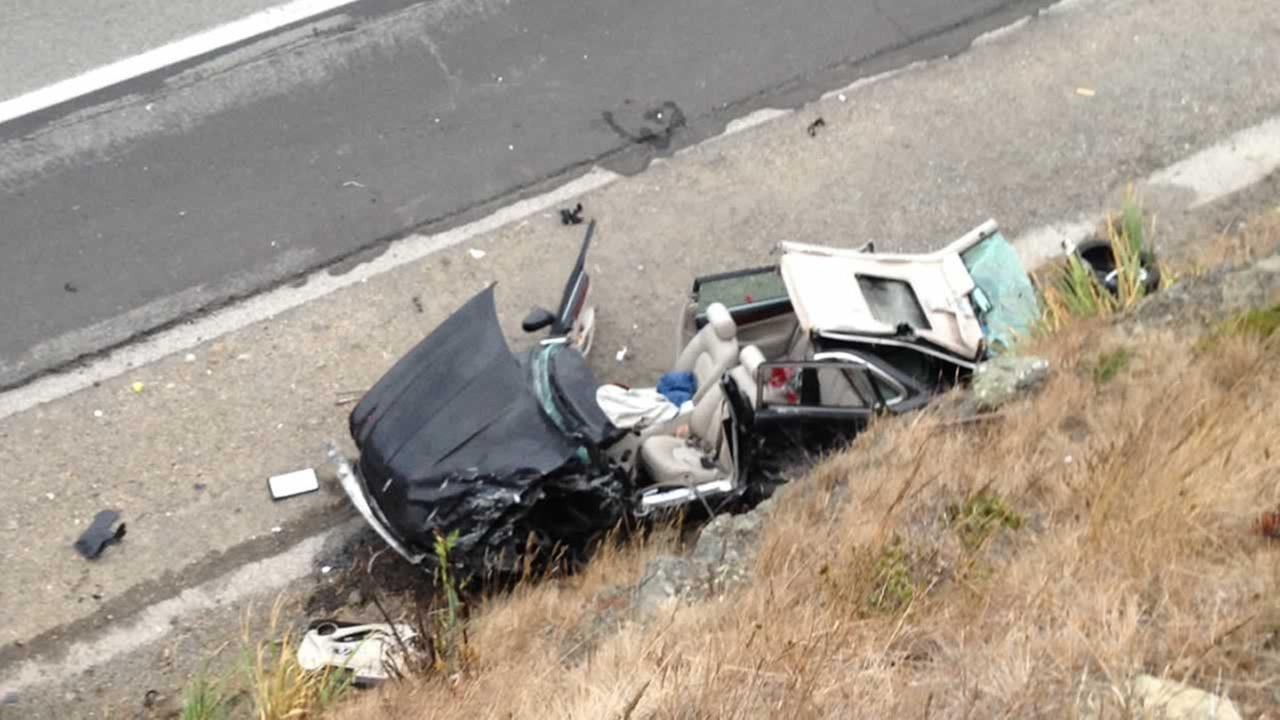 A major injury crash caused the closure of Highway 1 in Pacifica in both directions on Saturday, July 25, 2015.