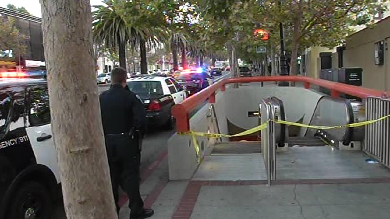 The discovery of a suspicious briefcase prompted the closure of San Franciscos Church Street Muni station on Sunday, July 26, 2015.