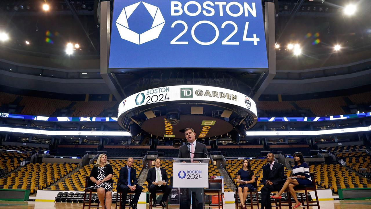 Boston Mayor Marty Walsh speaks at a news conference in Boston, Thursday, June 18, 2015.
