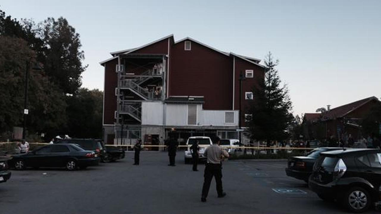 Santa Cruz police cordon off the Tannery Arts Center apartments July 27, 2014 where 8-year-old  Madyson Middleton disappeared from.