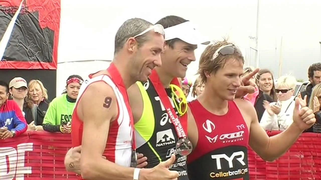 Alcatraz Triathlon winners.