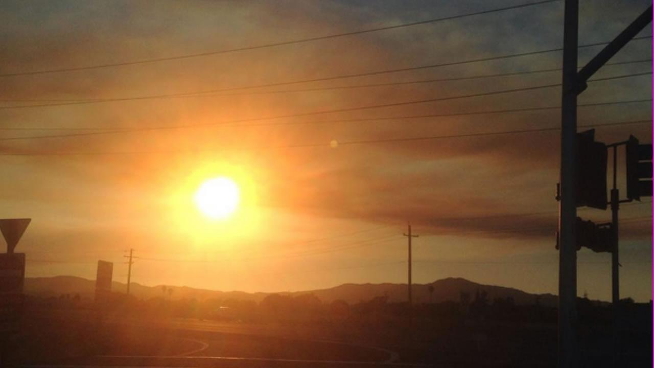 ABC7 News viewer snapped this photo of smoke from the Wragg Fire burning near Lake Berryessa on Tuesday, July 28, 2015.kmwflip15/Instagram