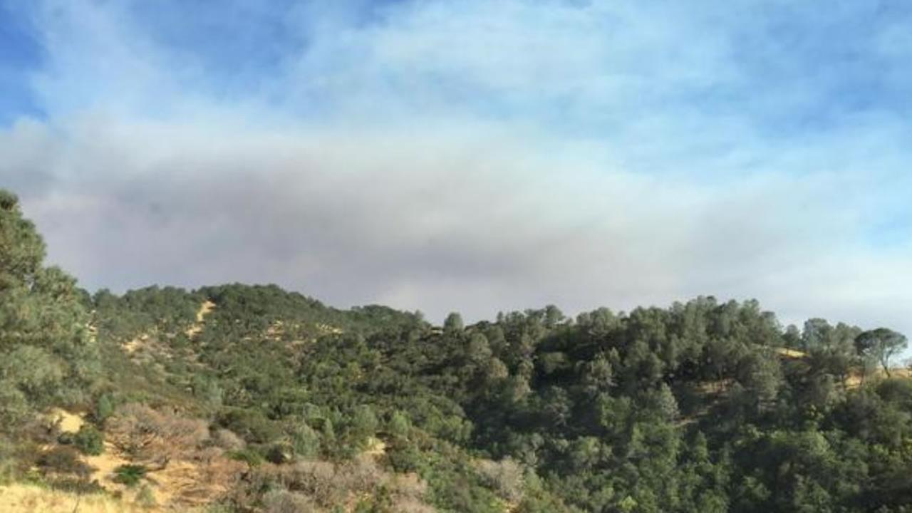 ABC7 News viewer snapped this photo of smoke from the Wragg Fire burning near Lake Berryessa on Tuesday, July 28, 2015.@70velma /Twitter