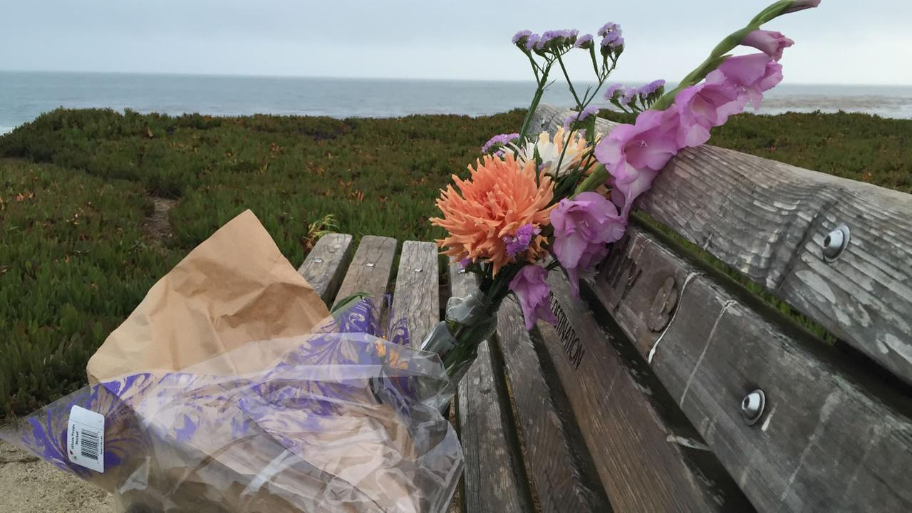 The Santa Cruz community went to the beach to mourn the tragic death of 8-year-old Maddy Middleton July 28, 2015.KGO-TV