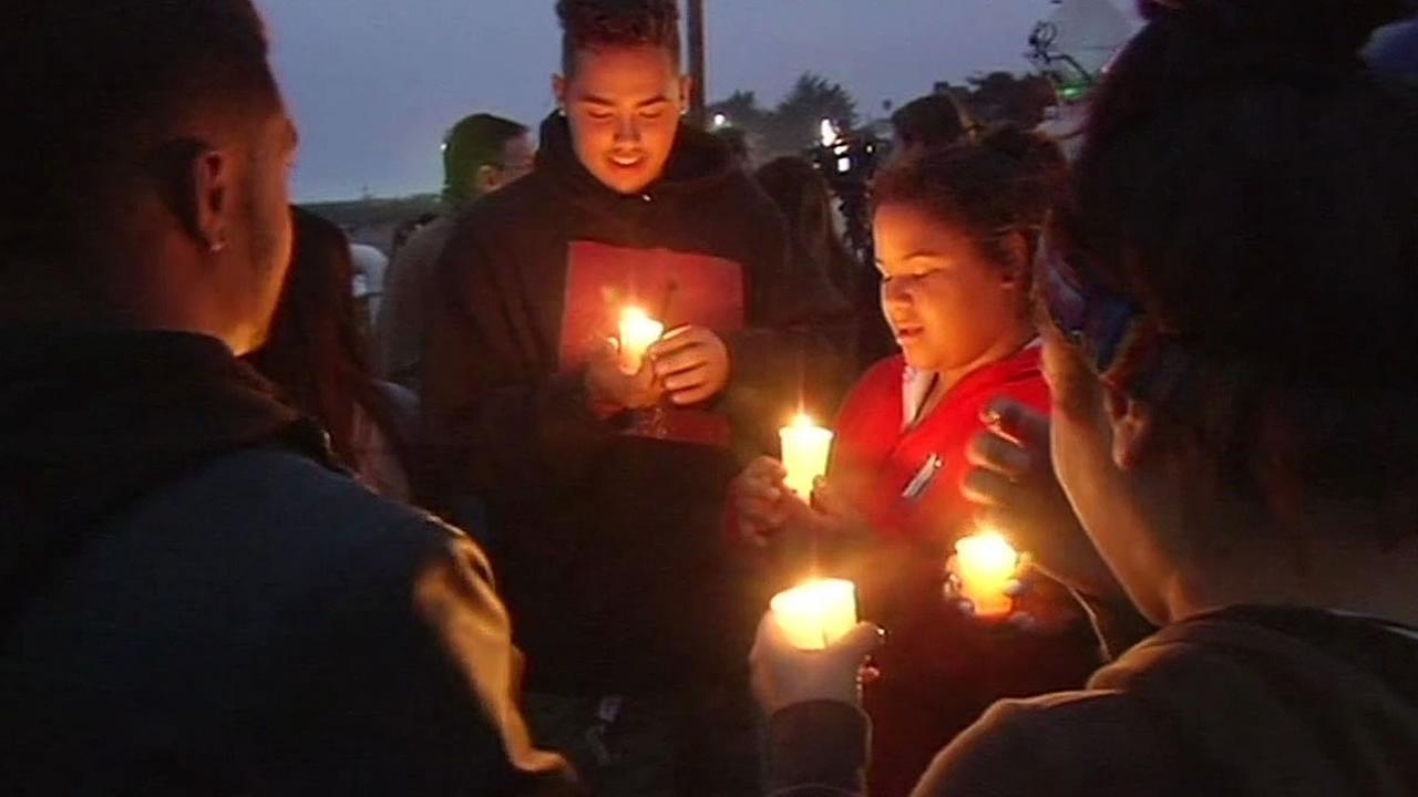 candlelight vigil held in Santa Cruz for Maddy