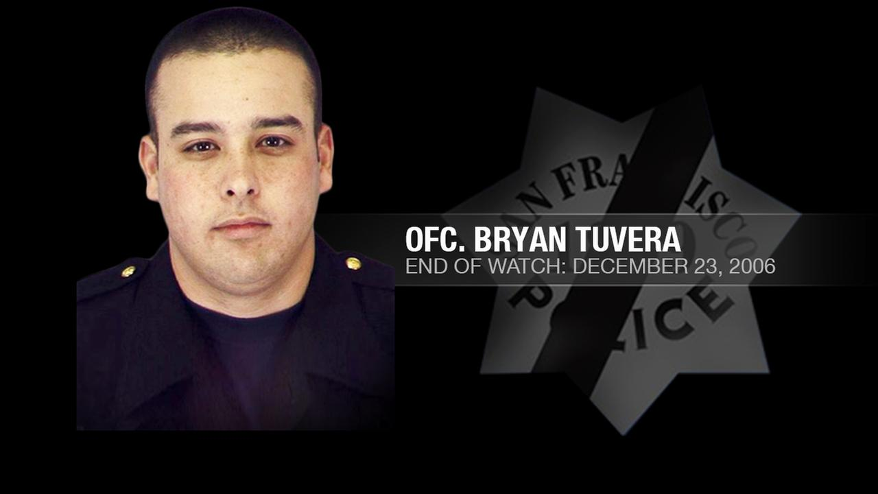 San Francisco Police Officer Bryan Tuvera, 28, was shot and killed while trying to arrest a wanted escapee from a state correctional camp on December 23, 2006.KGO-TV