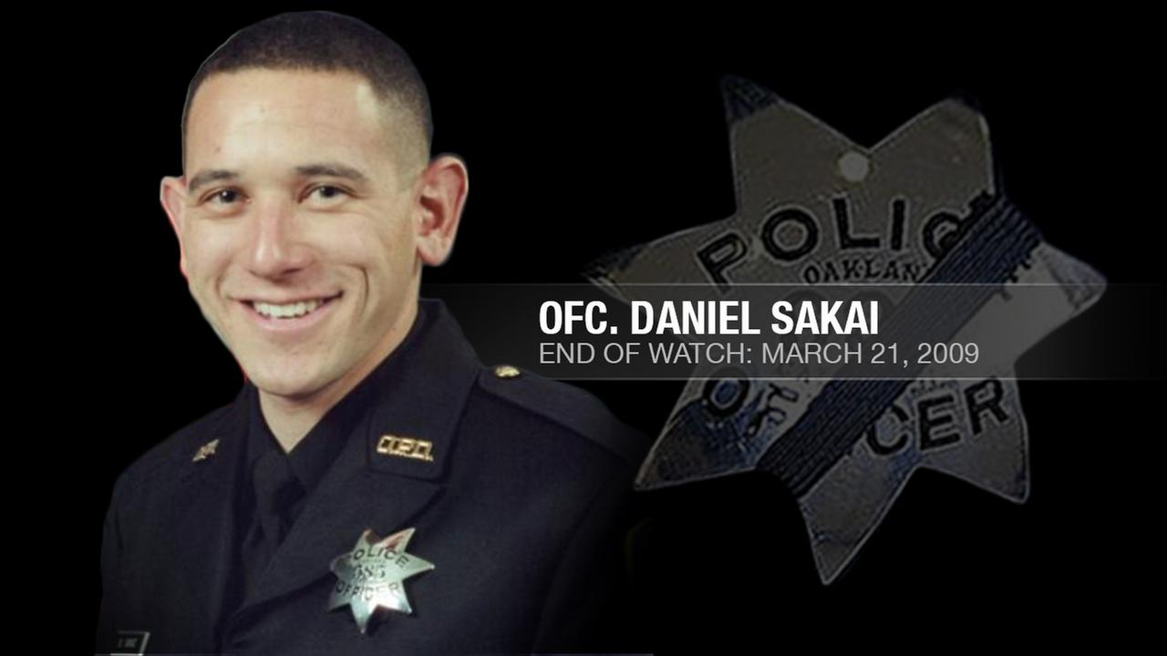 Daniel Sakai, 35, was one of four Oakland police officers who were shot and killed by a wanted parolee in Oakland, Calif. on March 24, 2009.KGO-TV