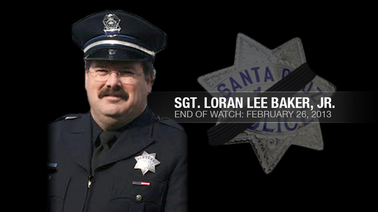 Santa Cruz Police Sgt. Loran Lee Butch Baker Jr., 51, was shot and killed while following up on a sexual assault investigation in Santa Cruz, Calif. on February 26, 2013.KGO-TV
