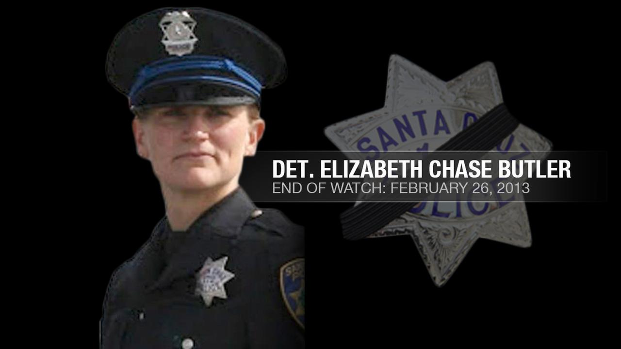 Santa Cruz Police Detective Elizabeth Chase Butler, 38, was shot and killed while following up on a sexual assault investigation in Santa Cruz, Calif. on February 26, 2013.KGO-TV