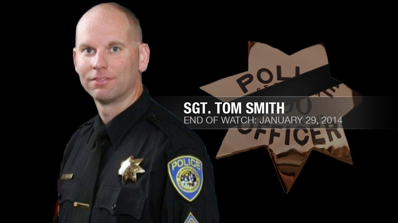 BART Police Sergeant Tom Smith, 42, was shot and killed by friendly fire while conducting a probation search in Dublin, Calif. on January 29, 2014.KGO-TV