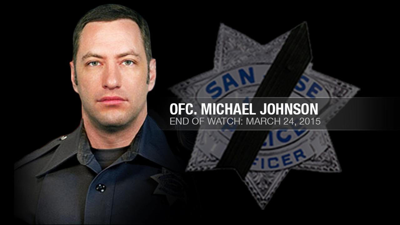 San Jose Police Officer Michael Johnson, 38, was shot and killed while responding to a 911 call at an apartment in San Jose, Calif. on March 24, 2015.KGO-TV