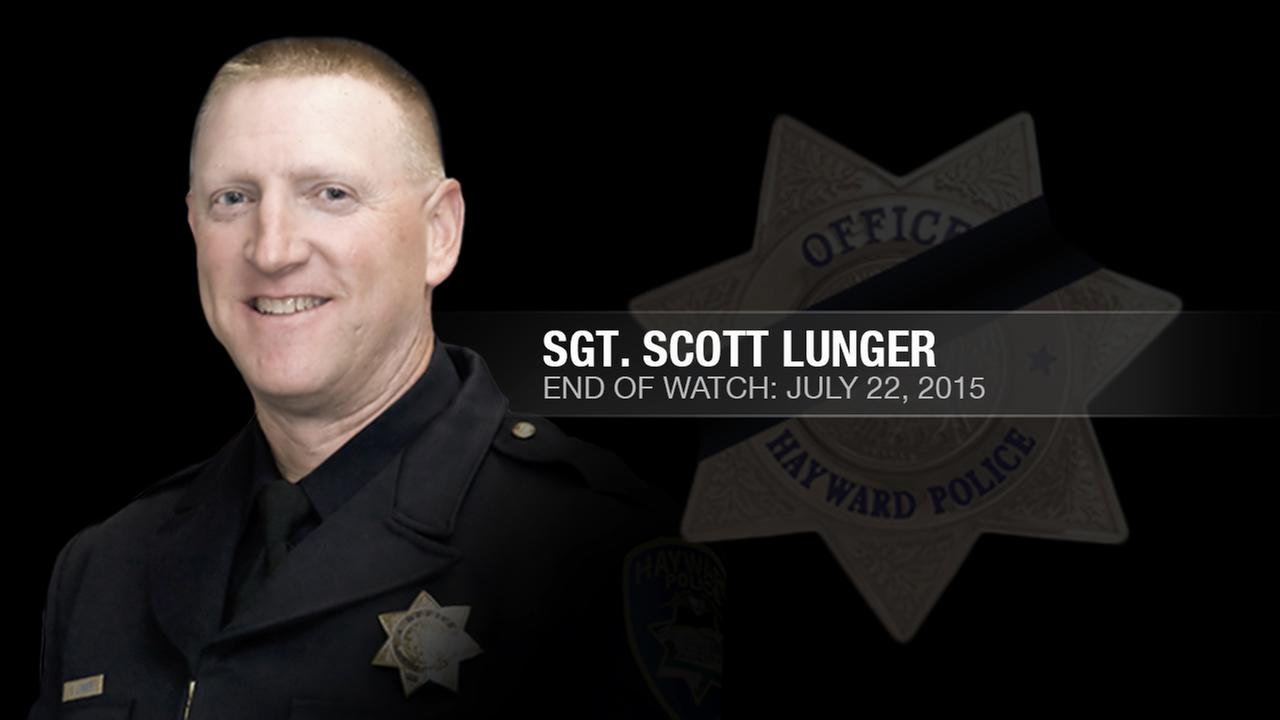 Hayward Police Sergeant Scott Lunger, 48, was shot and killed during an early morning traffic stop in Hayward, Calif. on July 22, 2015.KGO-TV