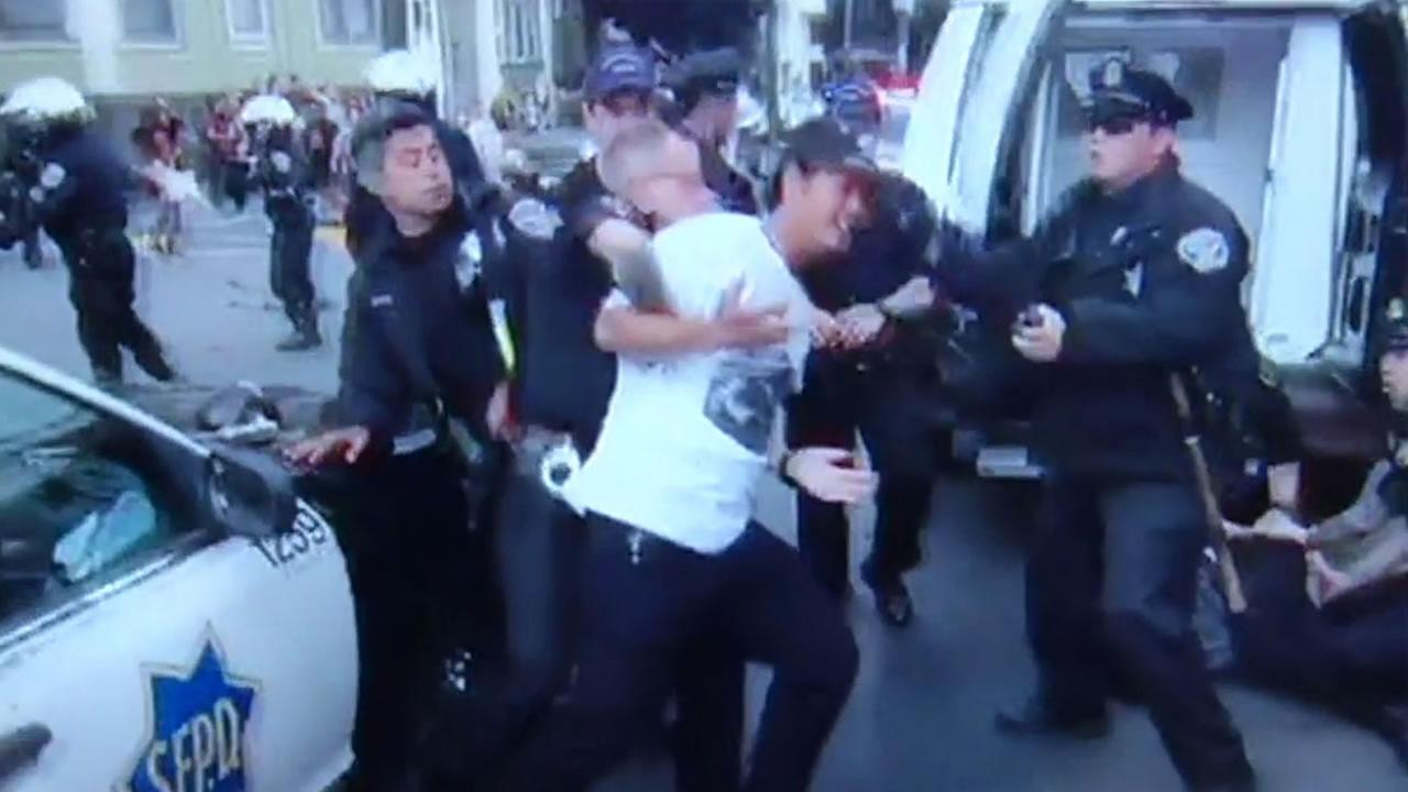 A cellphone video captured San Francisco police arresting Tony Nguyen, 24, during the citys Gay Pride Celebration June 28, 2015 in the Mission District.