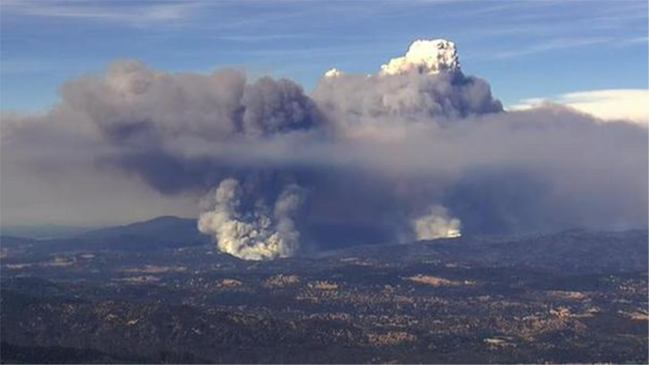 The Rocky Fire, east of Clear Lake in Lake County has now spread to 60,000 acres and is only 12 percent contained.