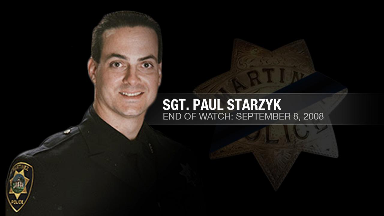 Martinez Police Sgt. Paul Starzyk was shot and killed while responding to a shots fired call at a hair salon in Martinez, Calif. on September 8, 2008.KGO-TV