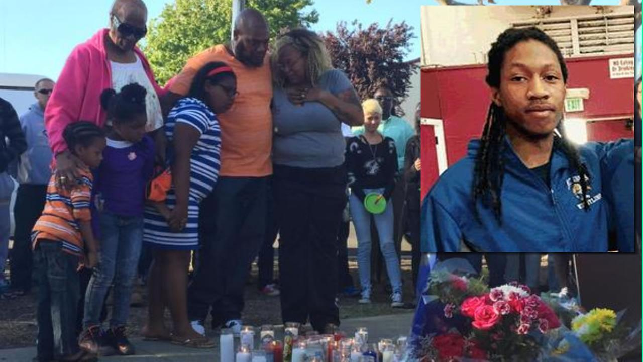 Kionta Murphy and his family mourn the loss of their 17-year-old son, Kionta Murphy Junior after he was gunned down in Hayward, Calif. August 4, 2015.