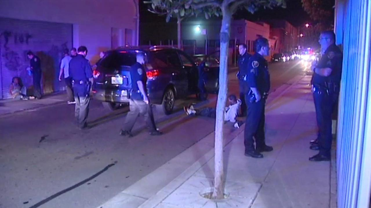 San Francisco police took three people into custody after a burglary and high-speed chase.