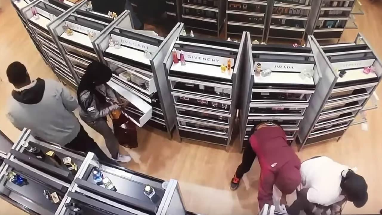 San Francisco police say a group known as the Rainbow Crew robbed a store on Geary Boulevard on July 28, 2015.