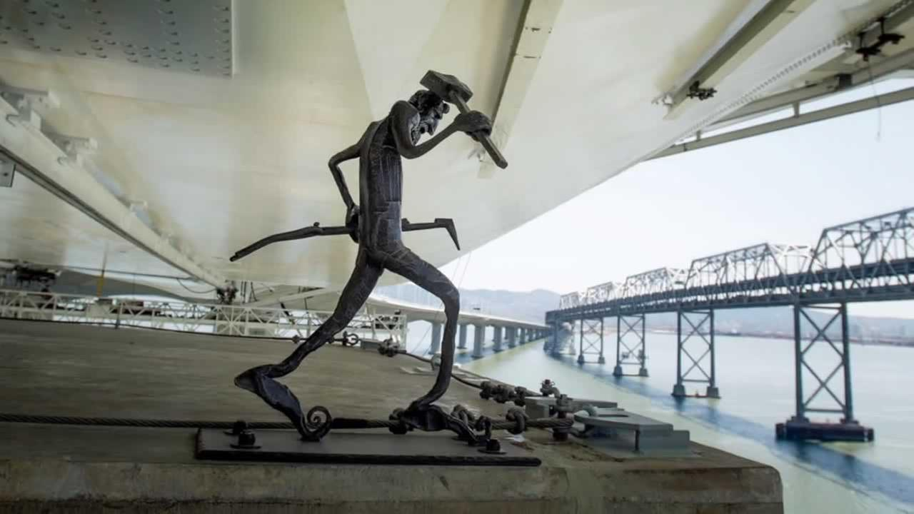 The infamous Bay Bridge troll finally has a home on the new eastern span of the bridge.