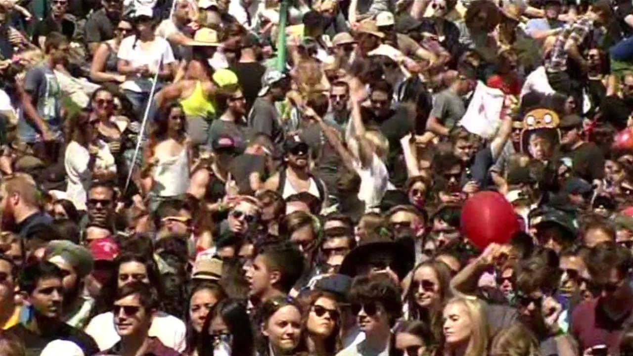 Thousands gathered inside Golden Gate Park for the eighth annual Outside Lands Music Festival, August 7, 2015.