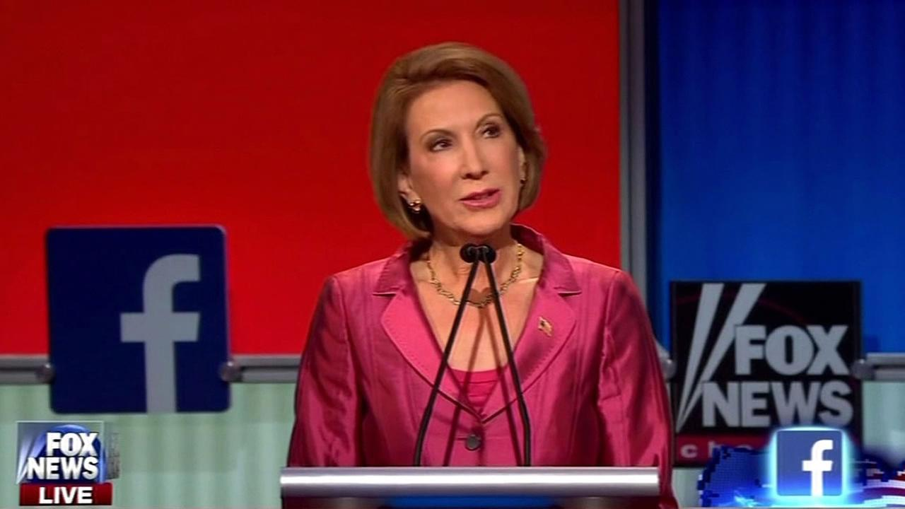 Carly Fiorina during the Republican presidential candidate debate
