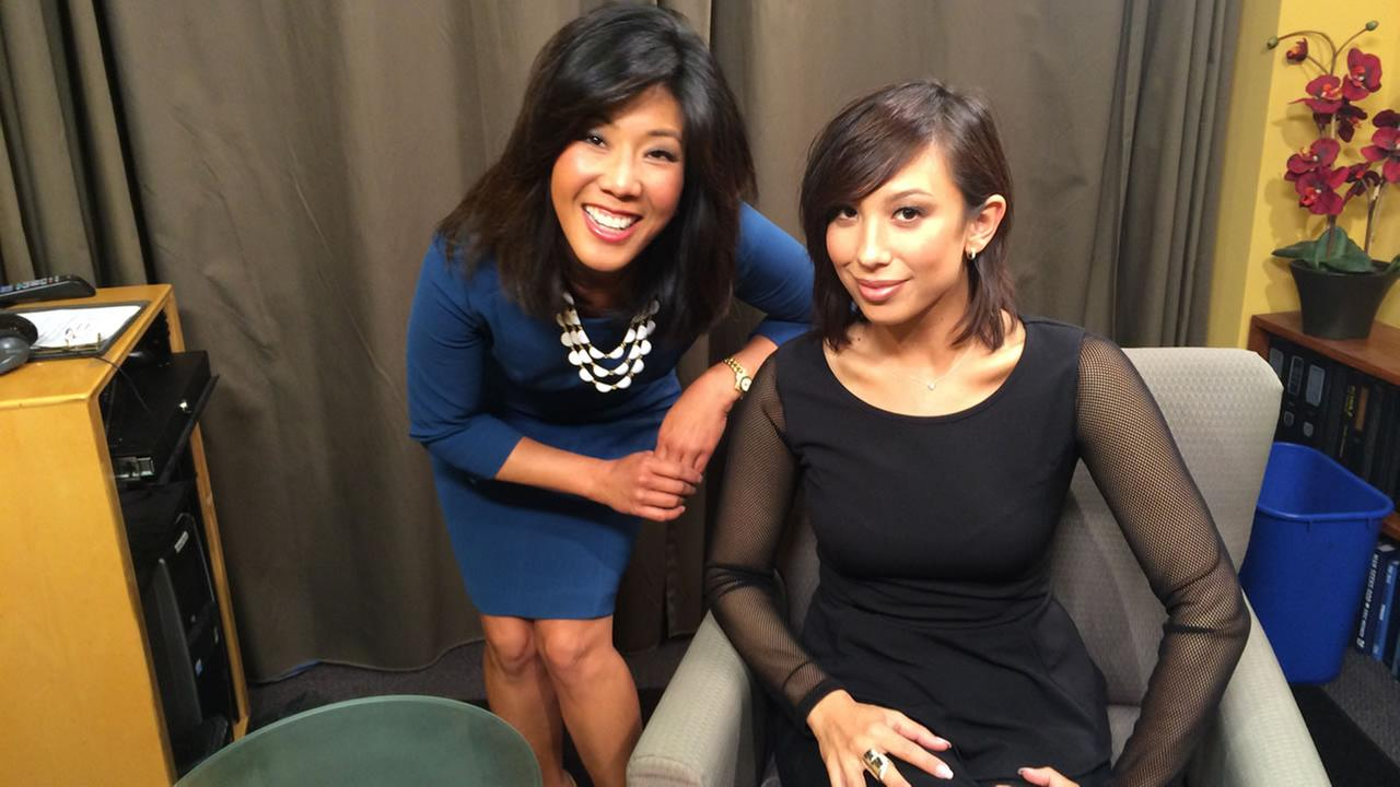 ABC7 News anchor Kristen Sze with Bay Area native and star of ABCs Dancing with the Stars, Cheryl Burke.