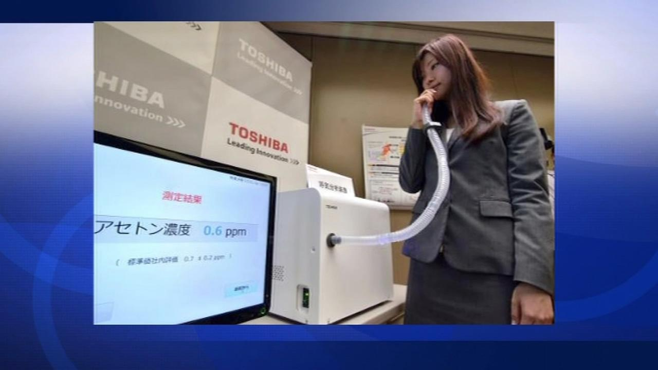 Toshiba develops breathalyzer to detect health problems.