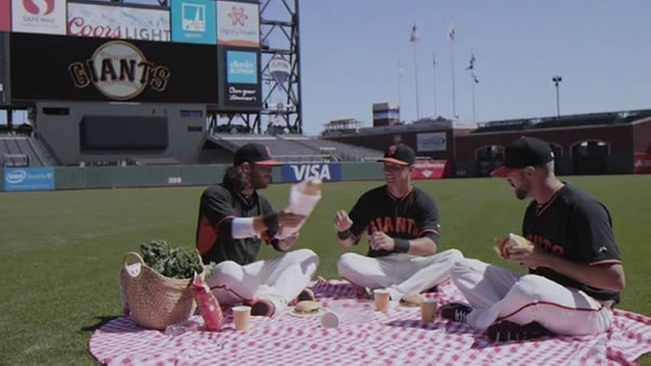 The San Francisco Giants paid tribute to the popular ABC sitcom Full House by remaking the shows theme song with Brandon Crawford, Hunter Pence, Joe Panik and Bruce Bochy.
