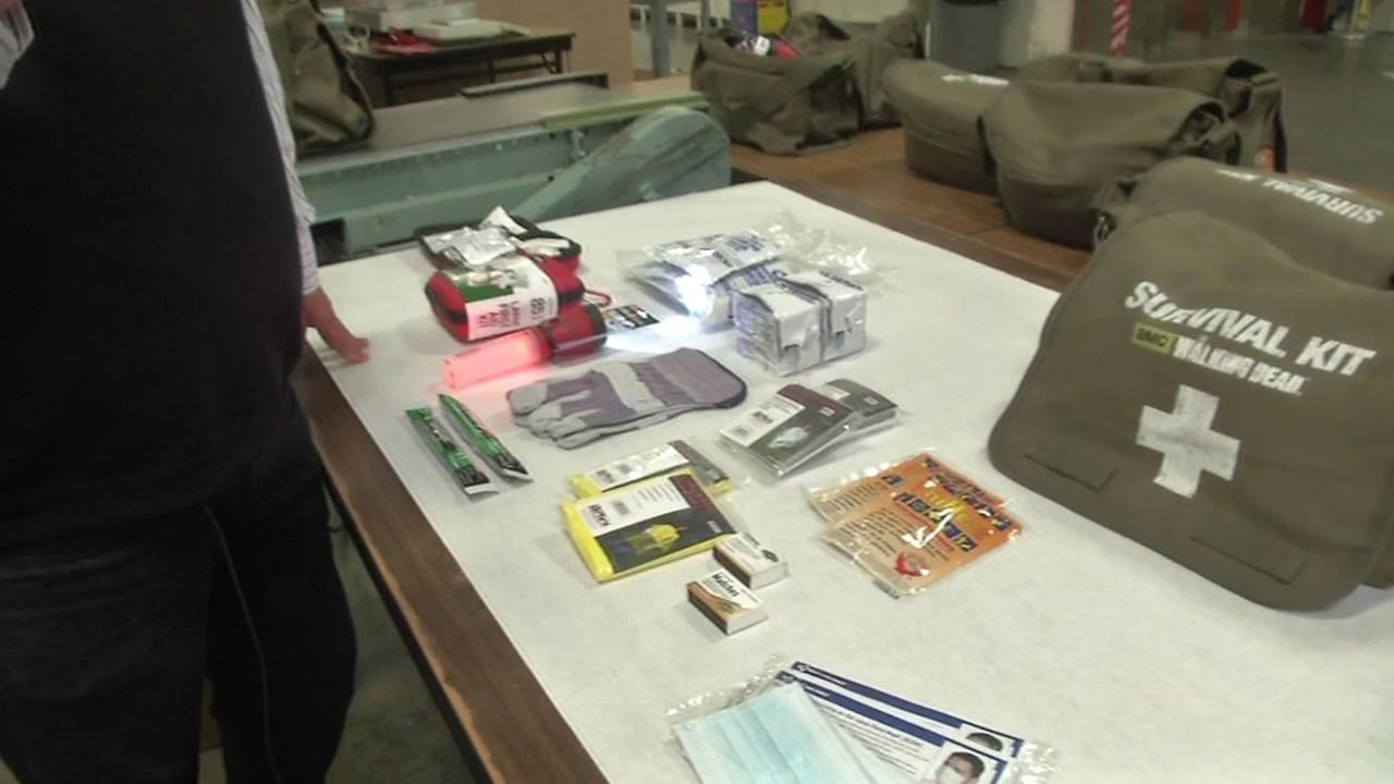 A local family has put together an emergency kit that has the hit show The Walking Dead taking notice.