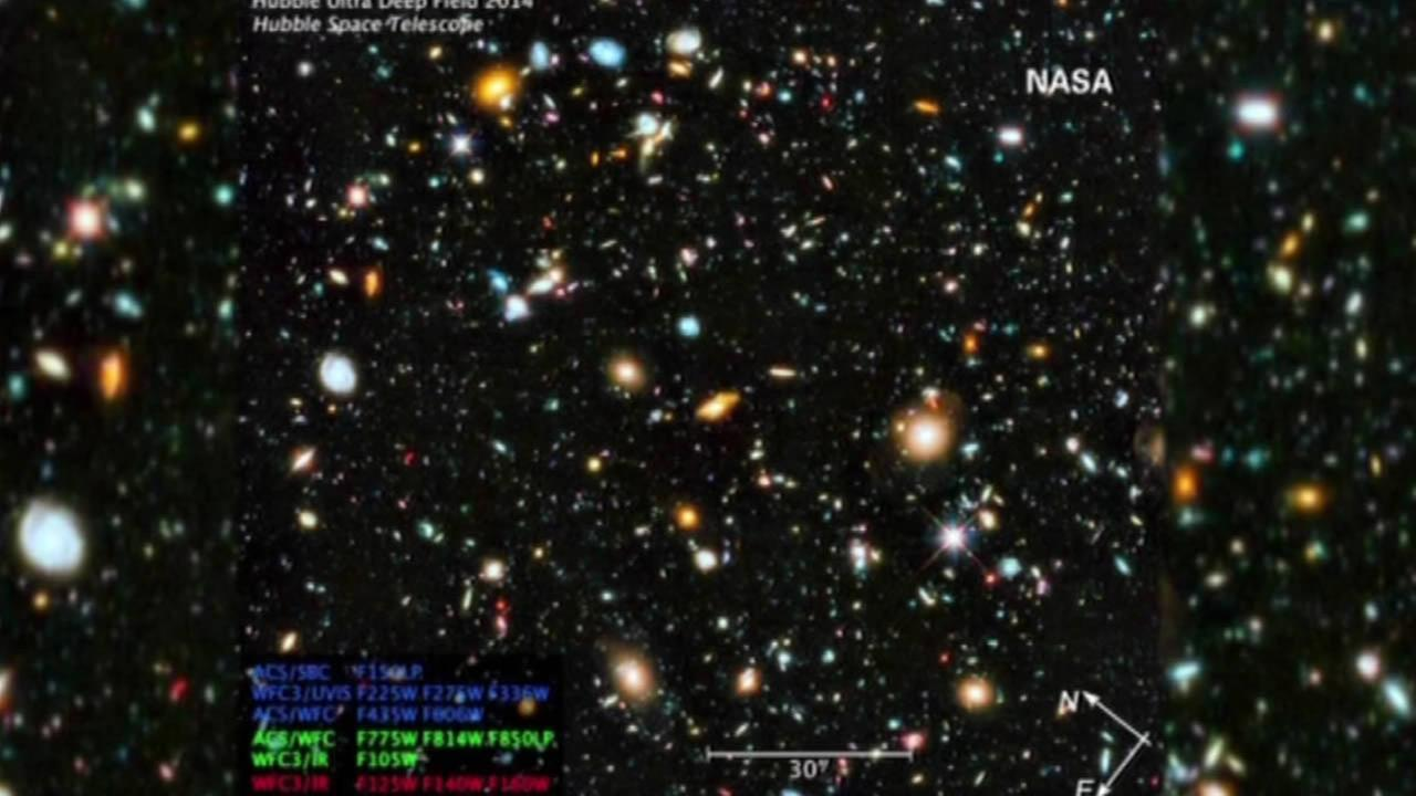 NASA photo of colorful universe.