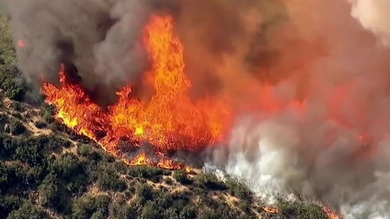 There are 95 wildfires burning throughout the western region of the United States.