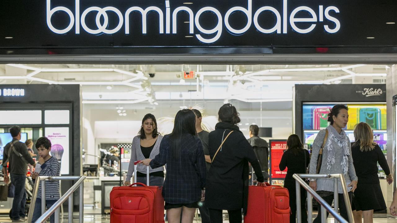 Consumers shop at the Bloomingdales store at the Glendale Galleria shopping mall in Glendale, Calif, Friday, Nov. 28, 2014.