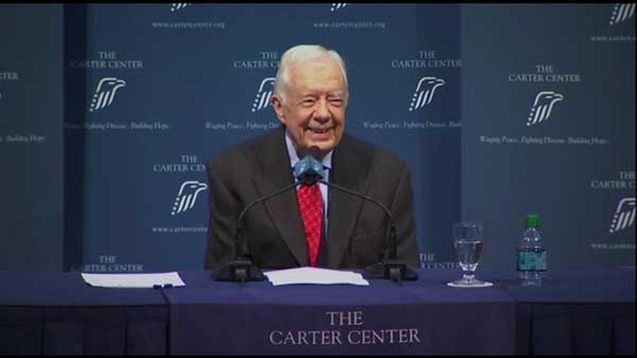 Former U.S. President Jimmy Carter said cancer has spread to his brain. He held a press conference updating his diagnosis in Atlanta, Georgia on Thursday, Aug. 20, 2015.