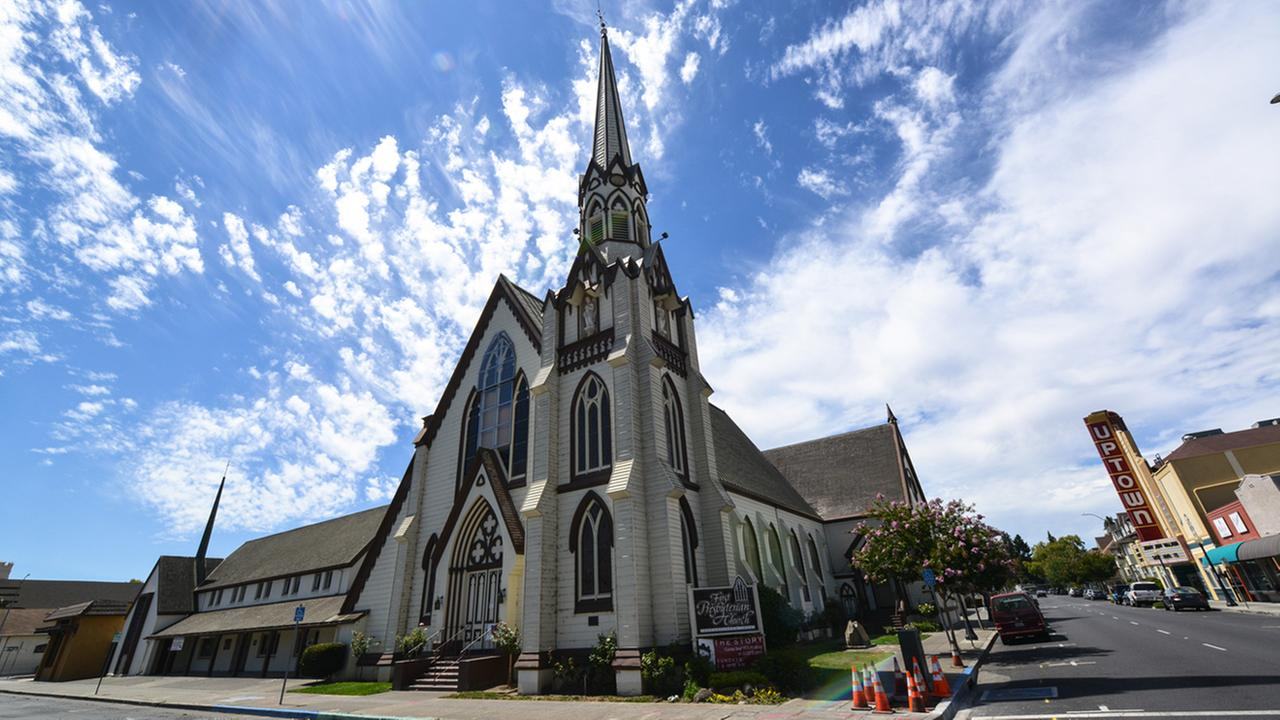 Napas First Presbyterian Church, thats on the National Register of Historic Places, is seen in Napa, Calif. on Tuesday, August 11, 2015.KGO-TV/Wayne Freedman