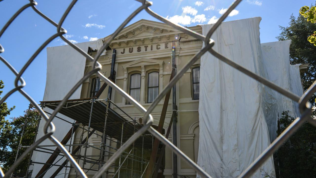 The old county courthouse, a long-term restoration project, is seen in Napa, Calif. on August 11, 2015.KGO-TV/Wayne Freedman