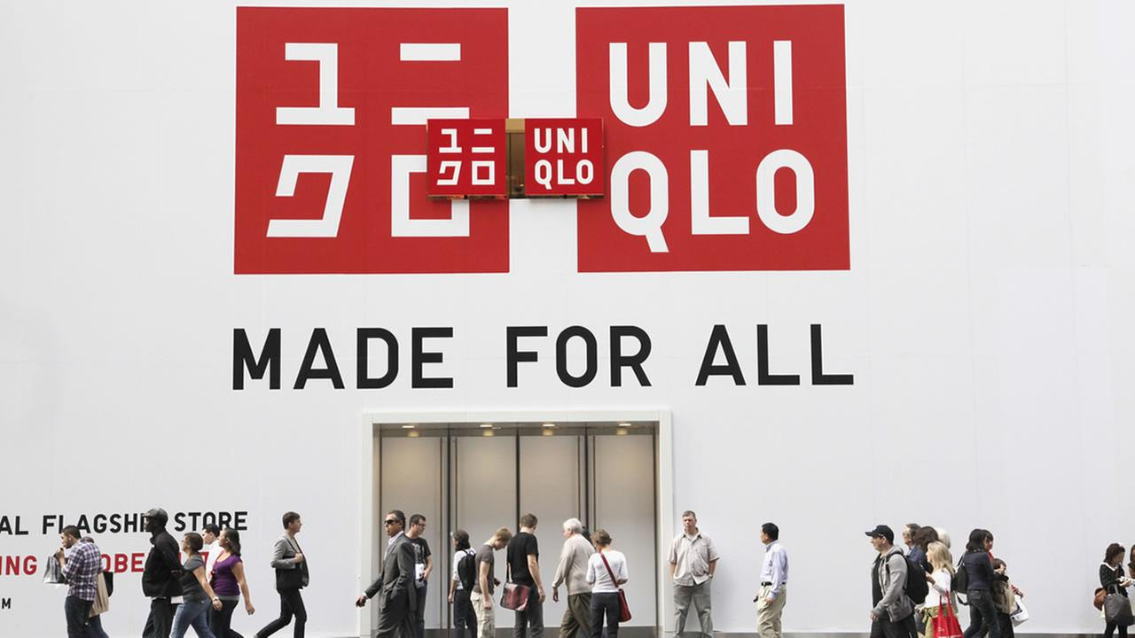 A sign for Uniqlo is shown on its store, Tuesday, Oct. 11, 2011 in New York. The Japanese retailer is opening a Fifth Avenue flagship store, Friday, Oct. 14.