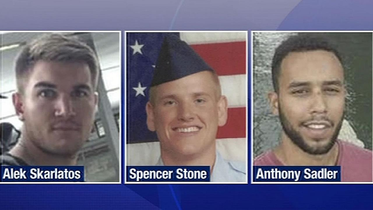 Alek Skarlatos, Spencer Stone, and Anthony Sadler