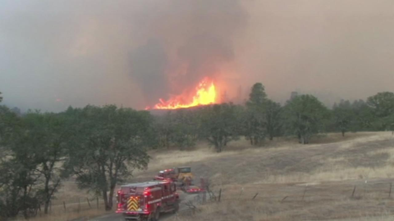 Cal Fire says the Peterson Fire burning in Lake County is now 200 acres, smaller than originally estimated, and is 17 percent contained as of Sunday, August 23, 2015.