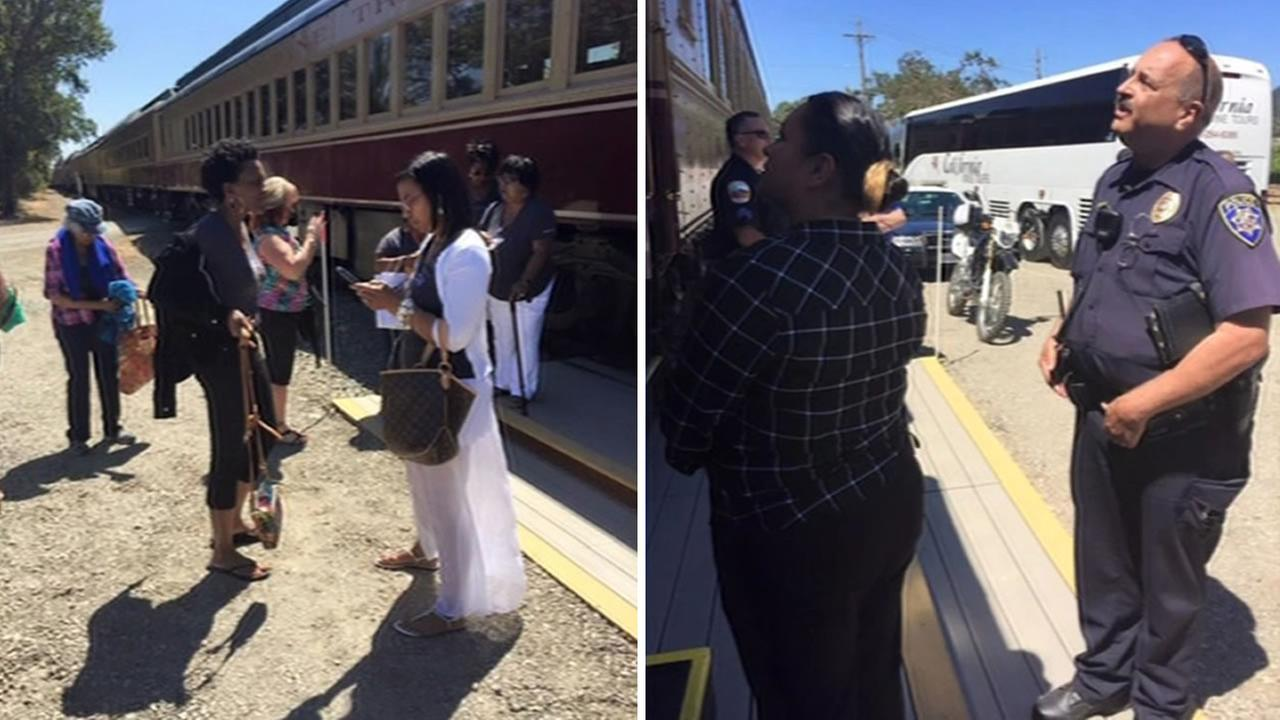 A black womens book club say they were unfairly ejected from the Napa Valley Wine Train in St. Helena, Calif. on Saturday, August 22, 2015.