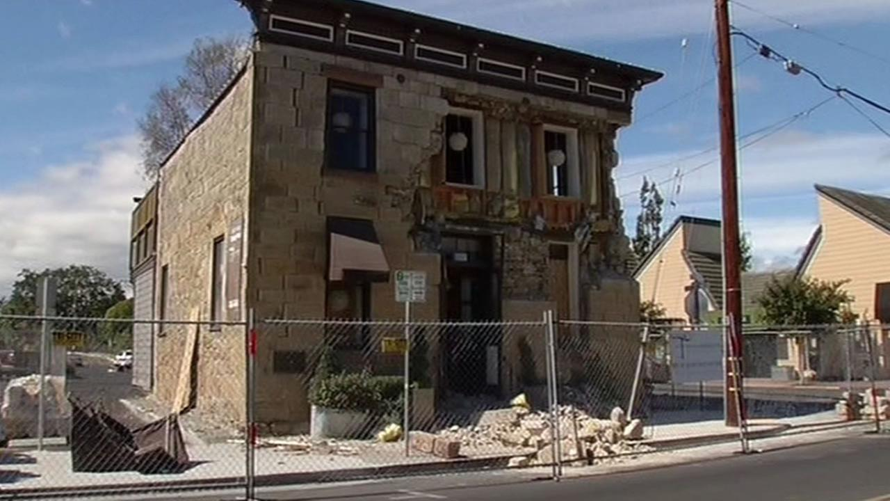 Napa quake damage