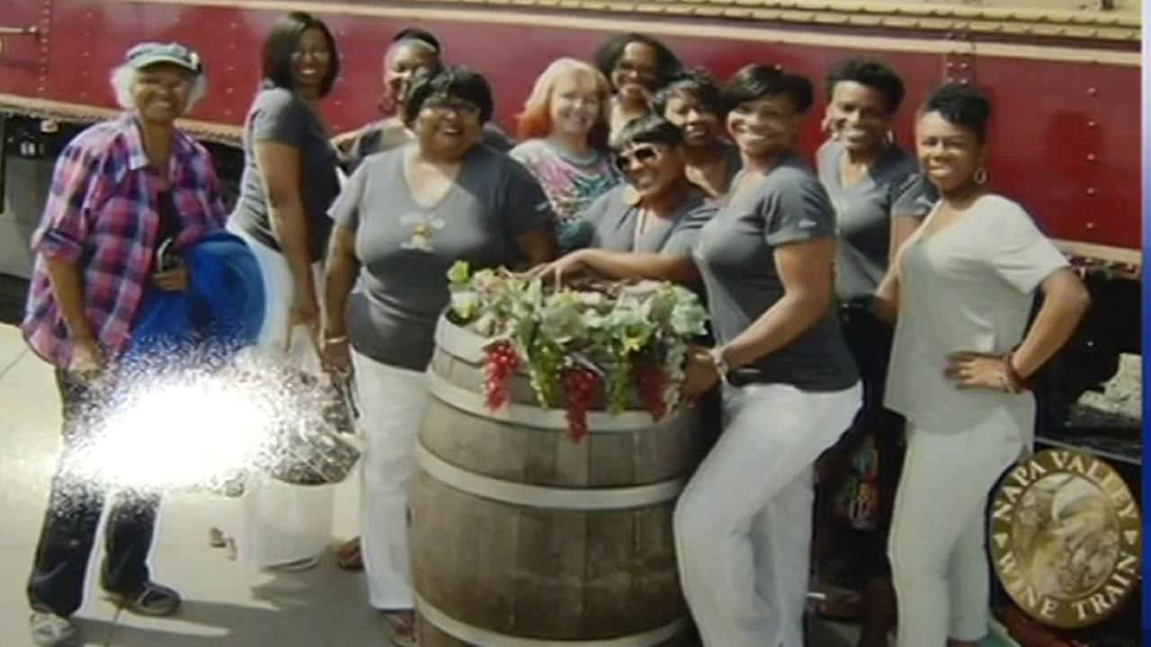 A womens book club say they were unfairly ejected from the Napa Valley Wine Train in St. Helena, Calif. on Saturday, August 22, 2015.