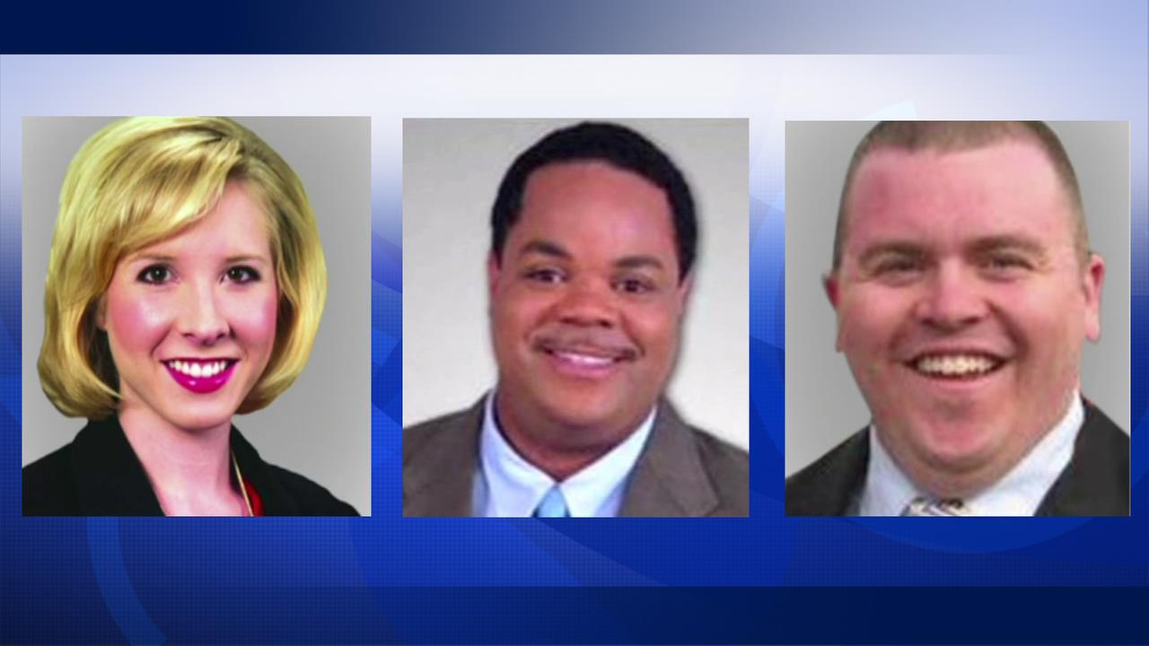 Police say Vester Flanagan, center, shot and killed Alison Parker and Adam Ward, his former colleagues at WDBJ-TV in Roanoke, Virginia on Wednesday, August 26, 2015.