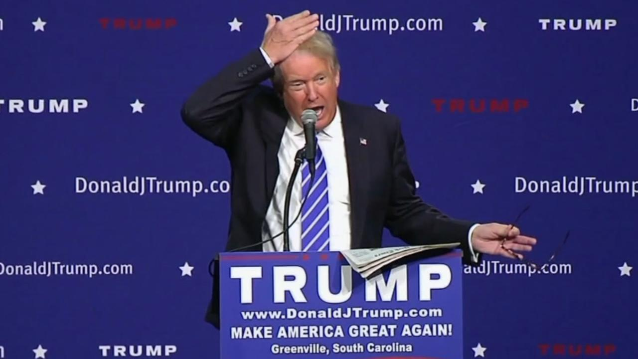 During a campaign stop in Greenville, S.C. on August 27, 2015, Donald Trump attempted to settle an issue thats followed him for years -- is his hair real?
