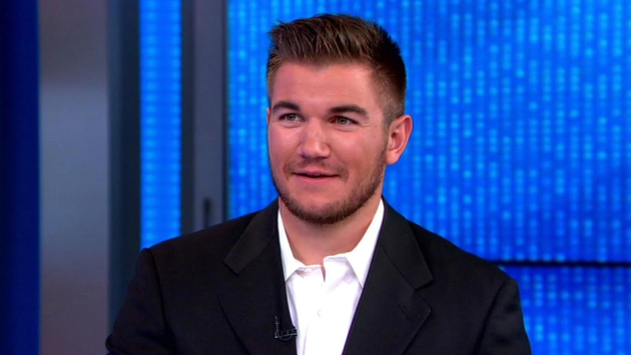 Army National Guard Specialist Alek Skarlatos on Good Morning America, Friday, August 28, 2015.
