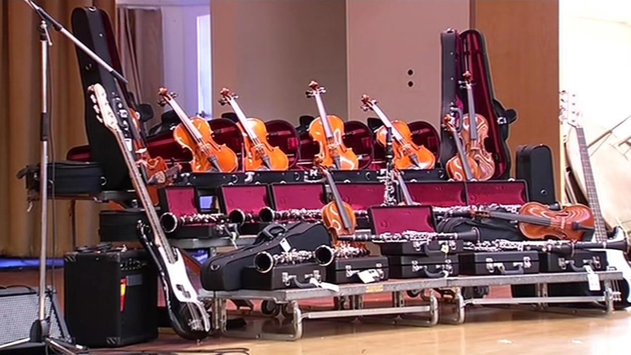 StubHub and the Mr. Hollands Opus Foundation donated $20,000 worth of instruments to Martin Luther King Jr. Elementary School in Oakland, Calif. on August 28, 2015.
