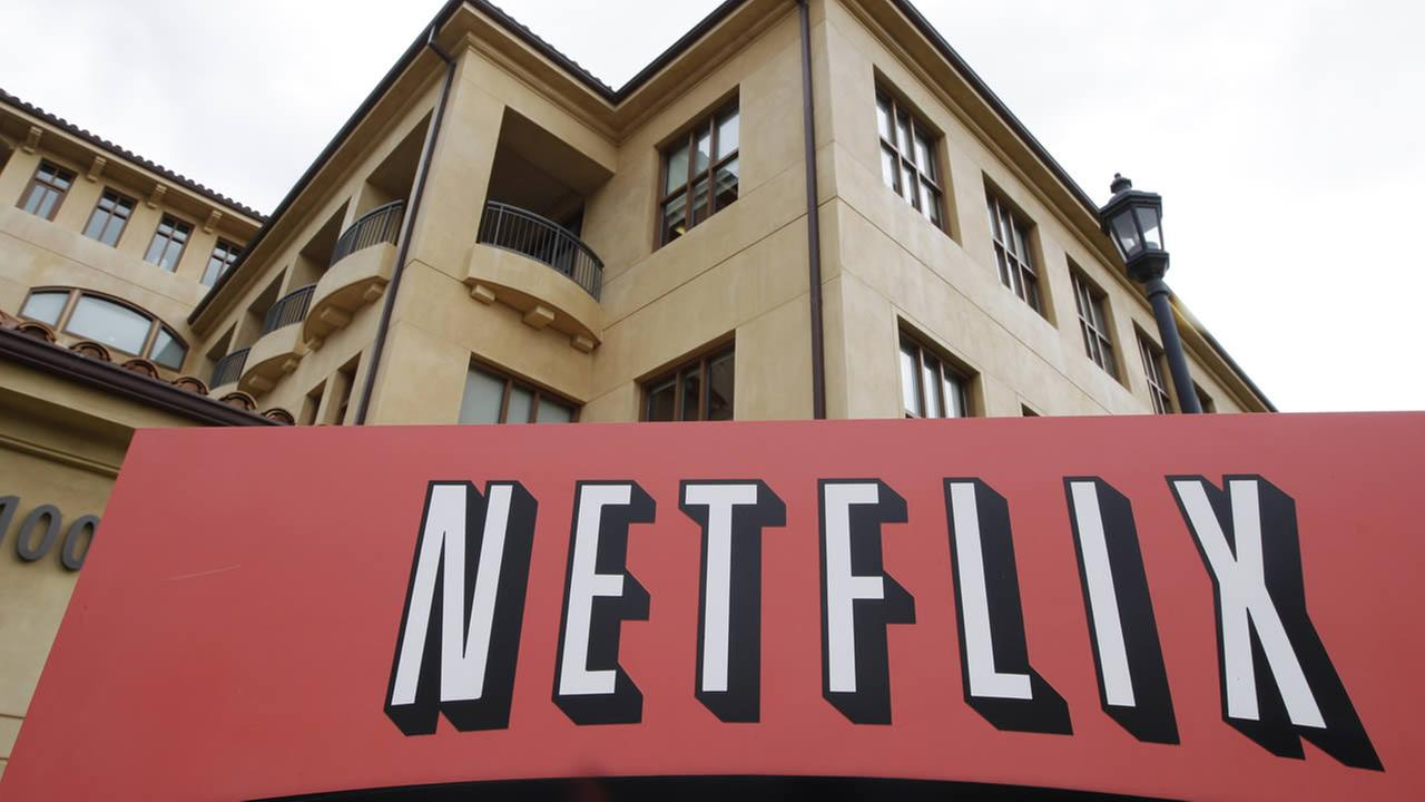 In this Oct. 10, 2011 file photo, the exterior of Netflix headquarters is seen in Los Gatos, Calif. (AP Photo/Paul Sakuma, File)