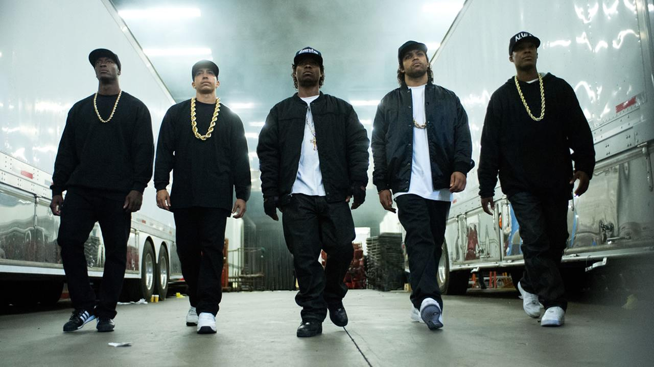 This photo provided by Universal Pictures shows a scene from the film, Straight Outta Compton. (Jaimie Trueblood/Universal Pictures via AP)